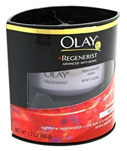 Olay Regenerist Night Recovery Cream Moisturize 1.7 Oz. (3-pack) with Free Nail File