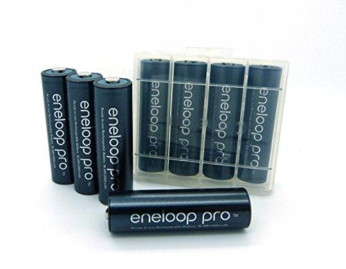 8-Pack-Eneloop-XX-Pro-Batterie-AA-min-2450-mAh-BK-3HCCE-di-alta-qualit-con-B4U-batteria-pugilato