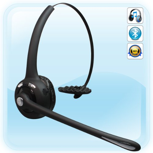 New Black Over-The-Head Bluetooth Headset For Cell Phone Psp