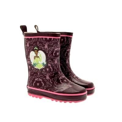 Disney Princess Tiana Or Cinderella Girls Kids Childrens Wellies Wellington Rain Snow Boots Size 6 - 13