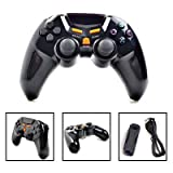 ATekCity High Quality Multiple Signals Dualshock Sixaxis 2.4G Wireless Controller Glossy for SONY Playstation PS3 & PC, Supports dual-shock six axis induction function games