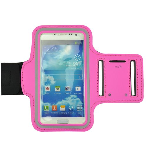 Deluxe Good Quality Workout Running Armband For Samsung Galaxy S4 And Samsung S3 (Rose)