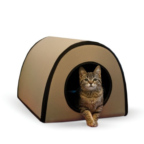 K&H Manufacturing 25-Watt Mod Thermo-Kitty Shelter, 15 By 21.5 By 13-Inch, Tan