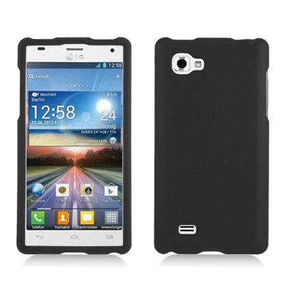 Black Hard Cover Case for Lg Optimus 4X HD P880 by ApexGears (Lg 4x Hd Case compare prices)