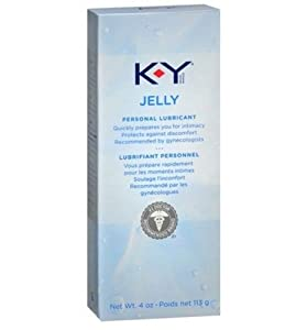 K-Y KY Jelly Personal Water-based Lubricant Net Wt 4 Oz