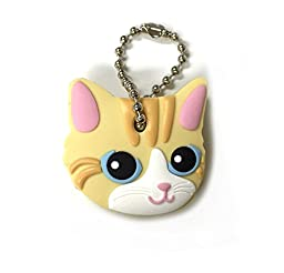 Key Cover / Key Caps / Key Holder / Keycaps - Cute Animal Pet Faces (Yellow Cat)