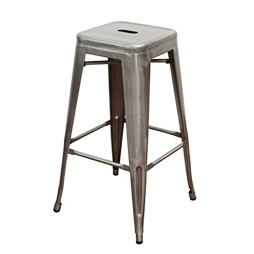 Joveco 30 Inches Sheet Metal Frame Tolix Style Bar Stool