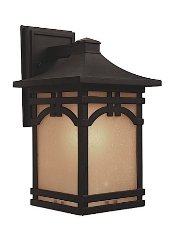 Artcraft Lighting AC8061BK Courtyard Medium Outdoor Wall Mount, Black