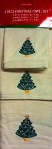3 Piece Christmas Towel Set Christmas Tree