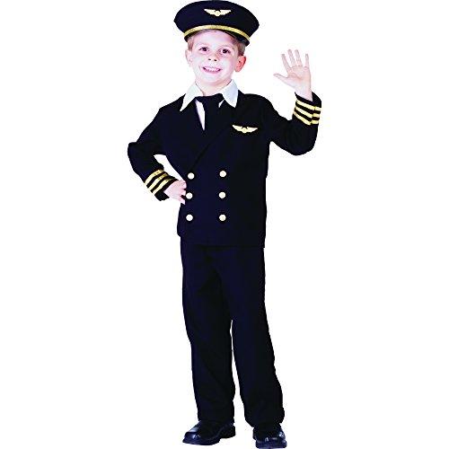 Dress Up America 365-S - Costume da Pilota con Giacca per Bambino, S, 4-6 Anni, Multicolore