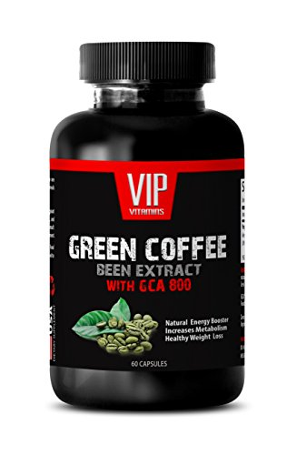 Pure Green Coffee bean extract - GREEN COFFEE BEAN EXTRACT with GCA 800 - Weight Control (1 Bottle - 60 Capsules) (Leptin Green Coffee 800 compare prices)