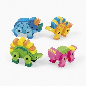 12 Dinosaur Movable Erasers