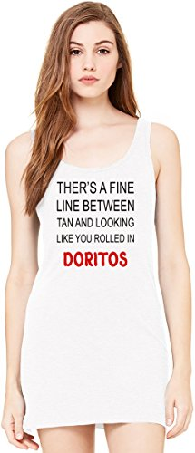 theres-a-line-between-tan-and-rolled-in-doritos-funny-bella-basic-sin-mangas-de-la-tunica-sleeveless