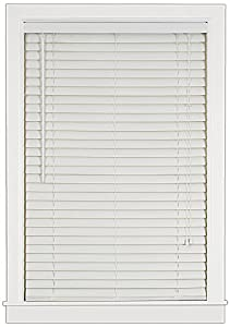 Achim Home Furnishings Luna 2-Inch Vinyl Blind, 43-Inch by 64-Inch, White