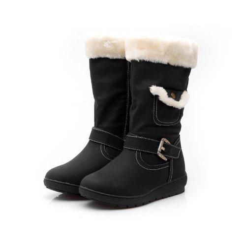 Reneeze K-COCO-3 Kids Mid-Calf Boot- Black, Size 11