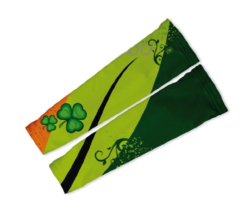 Image of Lucky Leaf Arm Warmers Sleeves Unisex Walking/Cycling/Running (01-AWS-115-PM)