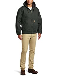 Carhartt Men's Big & Tall Quilted Flannel Lined Sandstone Active Jacket J130,Moss,XXX-Large