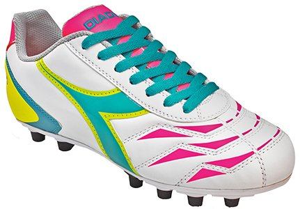 Diadora Women's Capitano Lt Md Pu Soccer Cleats,White,8 M