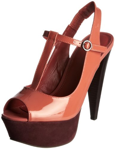 Carvela Women's Amigo Leather Orange Platforms Heels 1804891209 3 UK