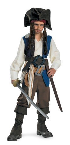 5042 (10-12) Jack Sparrow Deluxe Child (Captain Jack Sparrow Child Deluxe Costume)