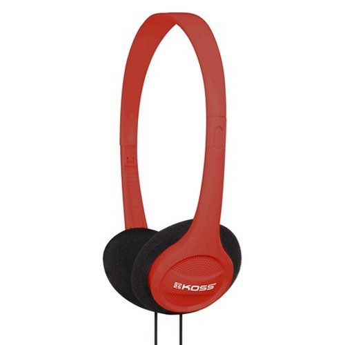 Red Portable On-Ear Headphone With Adjustable Headband
