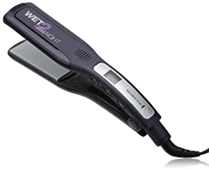 Remington S8001G Wet 2 Straight Wide Plate Wet/Dry Ceramic Hair Straightening Iron with Tourmaline, 2-inch, Purple