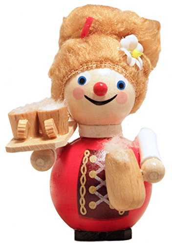 Steinbach Oktoberfest Bavarian Woman with Beer German Wooden Christmas Ornament