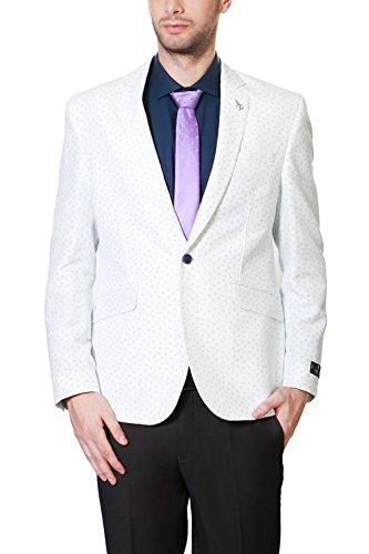 Van Heusen Men's Slim Fit Blazer (8907485964846_VHBZ316M07177_40_White Solid)