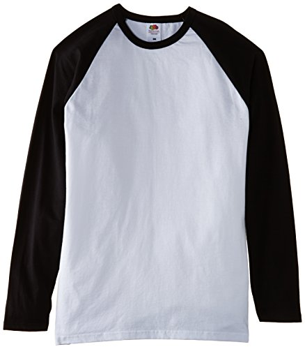 Fotl - T-shirt sportiva a punta tonda, Uomo, Multicolore (Multicoloured (White/Black)), M