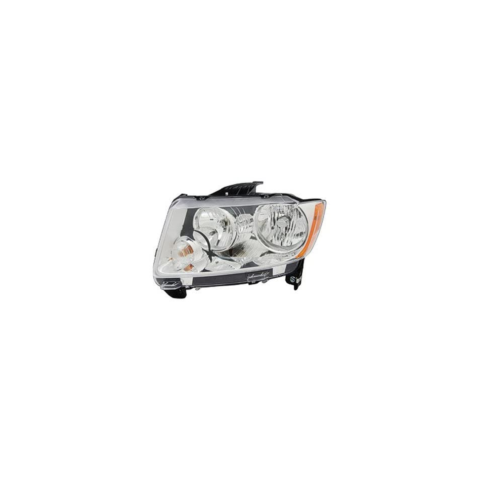 DRIVER SIDE HEADLIGHT Jeep Compass HALOGEN HEAD LIGHT ASSEMBLY; WITHOUT AUTO LEVELING SYSTEM; CODE LMB; WITHOUT BLACK BEZEL