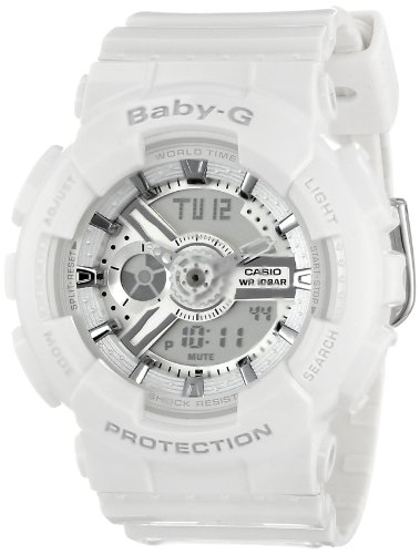 Casio Women s BA-110-7A3CR Baby-G Analog Display Quartz White Watch ... 4ba88048be4f