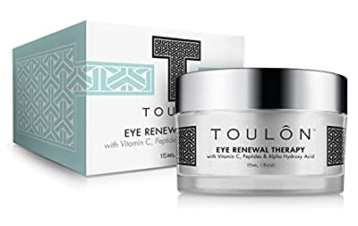 Eye Cream for Dark Circles and Puffiness. Reduces Lines and Wrinkles with Vitamin C, Peptides & Alpha Hydroxy Acid. Minimizes Crows Feet, Puffy Eyes and Bags