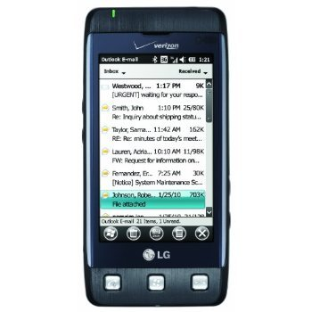 LG Fathom VS750 Unlocked GSM Worldphone with 3.2-Inch Touchscreen, Slideout QWERTY, 3.2MP Camera – Unlocked Phone – US Warranty – Dark Blue/Gray