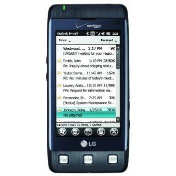LG Fathom VS750 Unlocked GSM Worldphone with 3.2-Inch Touchscreen, Slideout QWERTY, 3.2MP Camera - Unlocked Phone - US Warranty - Dark Blue/Gray