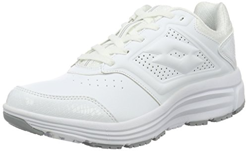 Lotto Sport Love Ride Lth Amf W, Scarpe Running Donna, Bianco (Wht/Slv MT), 42 EU