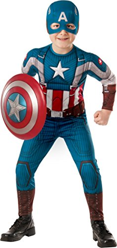 Boys Captain America Kids Child Fancy Dress Party Halloween Costume