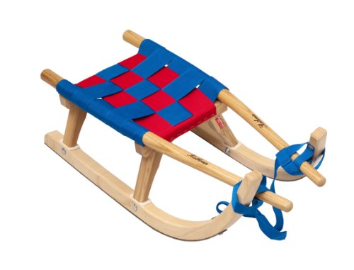 Luge En Bois Pliable : Kathrein Rodel 25 Traineau en bois pour enfant Bleu/rouge