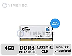 Timetec Hynix IC Apple 4GB DDR3 1333MHz PC3-10600 SODIMM Memory upgrade For iMac 12,2 (27-inch Mid 2011), iMac 21.5-inch Mid 2011, Mac mini 5,1 & Mac mini 5,2(Mid 2011) and more (High Desnity 4GB)