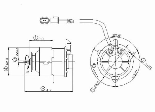 Radiator Fan Motor For 1997-2002 Mitsubishi Mirage 1.8L (Automatic Transmission) - 631180