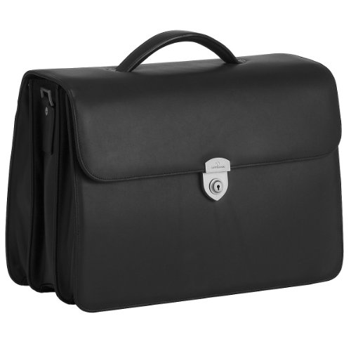 Offermann City Aktentasche aus Leder 42 cm (schwarz)