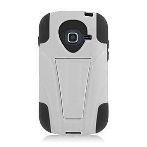 Samsung Galaxy Centura S738 Hybrid Case Y Black White Stand