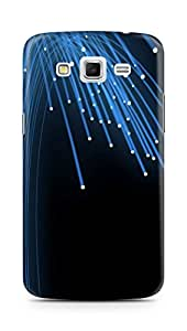 AMEZ designer printed 3d premium high quality back case cover for Samsung Galaxy Grand 2 (abstract hd blue lights)
