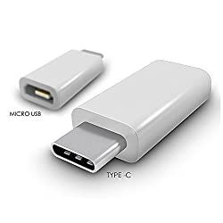 MVE(TM) Portable Charging & Data SYNC Hi-speed USB 3.1 Type C Male to Micro USB Female Converter Connector Adapter for Type-C Supported Devices, Nokia N1 Pad, Macbook, Letv Smartphone(1pc), Apple New Macbook 12 inch, OnePlus Two, Google Nexus 5X, Nexus 6P, Pixel C. Support Charging and data Synchronizing. (WHITE)