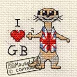 Mouseloft Mini Cross Stitch Kit GB Meerkat Images of Britain Collection
