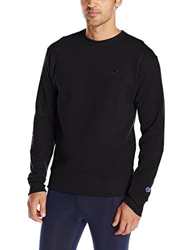 Champion Men's Powerblend Pullover Sweatshirt, Black, Medium