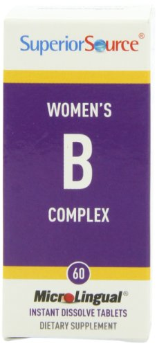 Superior Source Womens B Complex With Extra B-12 And Folic Acid Nutritional Supplements, 60 Count