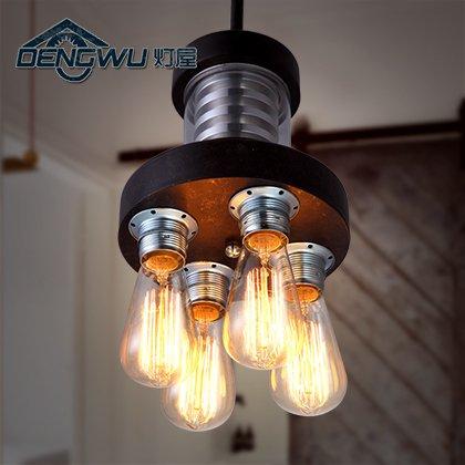 CU Vintage vento industriale semplice creative art bar caffetterie ristoranti bar quattro-luce sonda lampadario diametro 200mm 800mm