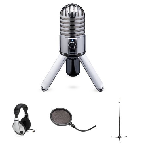 Samson Meteor Mic With Headphones, Stand, And Pop Filter