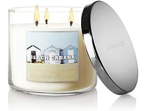 Bath & Body Works Slatkin and Co - 3 Wick Scented 14.5 oz Candle - BEACH CABANA