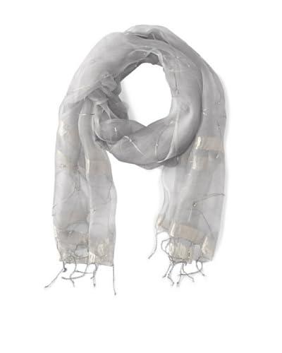 Saachi Women's Beaded Leaf Silk Scarf, Cairodust As You See